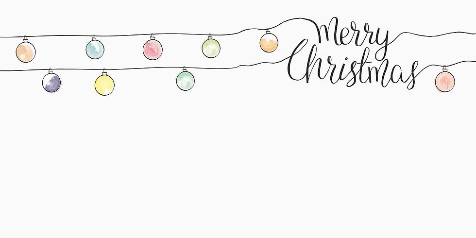 Carte de Noël à l'aquarelle (Enfants)