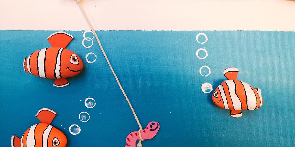 Toile de poissons-galets (Enfants de 5 à 8 ans)