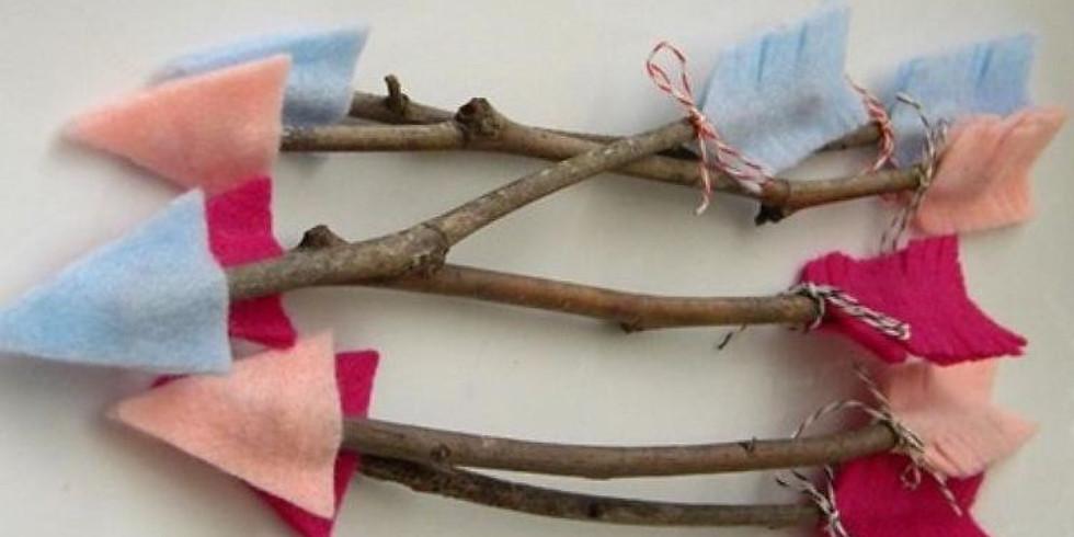 Arc à flèches + flèches (enfants de 5 à 8 ans)