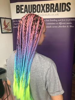 Large size box braids