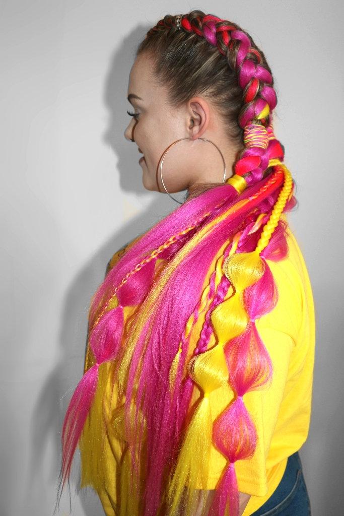 Customised festival braids
