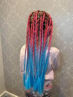 Kids medium size box braids