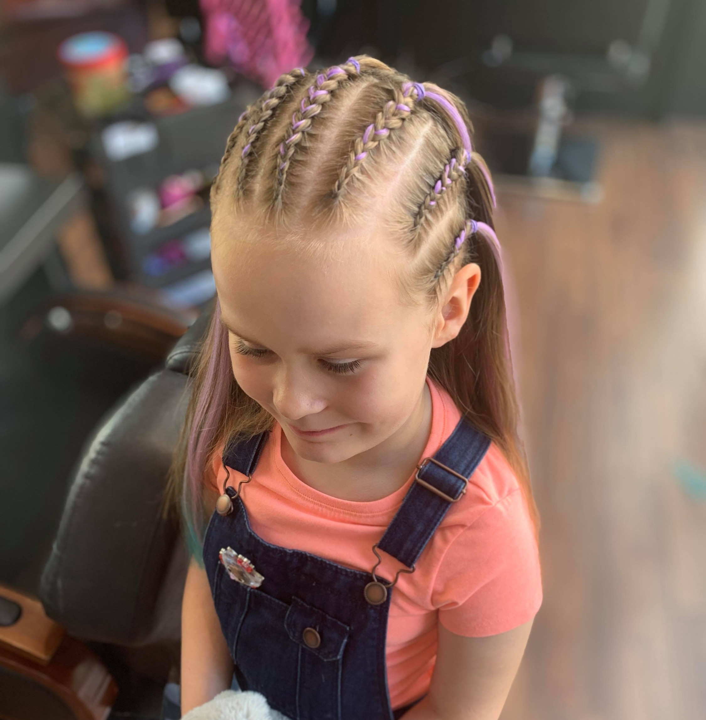 Half head cornrows (6-8 braids)