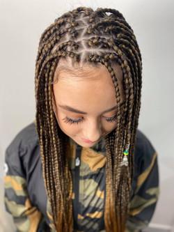 Small size kids box braids
