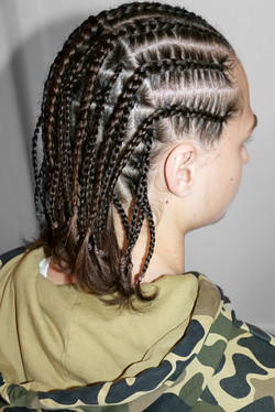 Cornrows / single braids