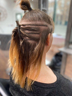 Cornrow braids
