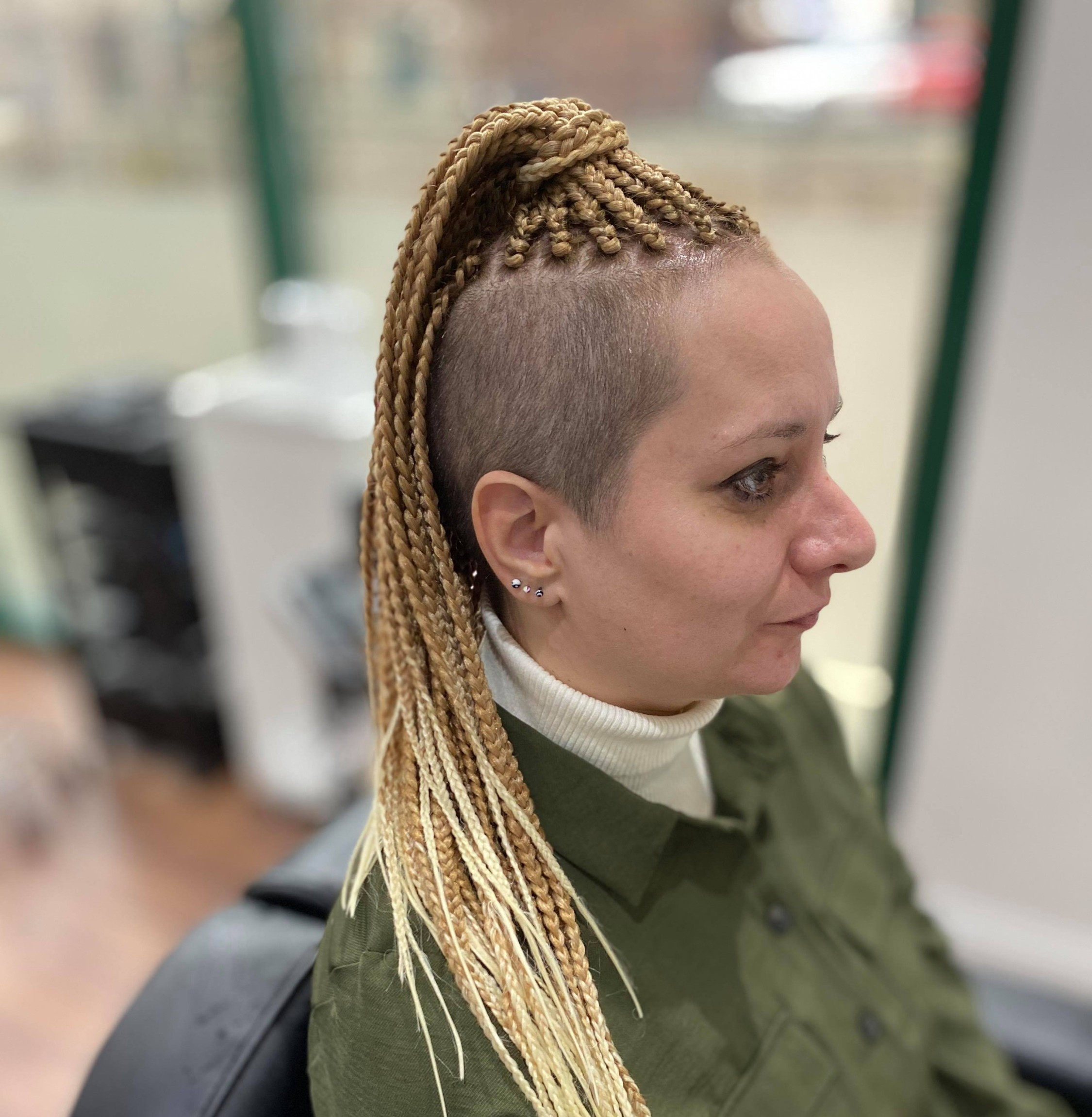 TOP braids with shaved sides