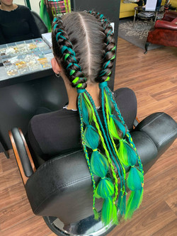 Customised festival boxer braids