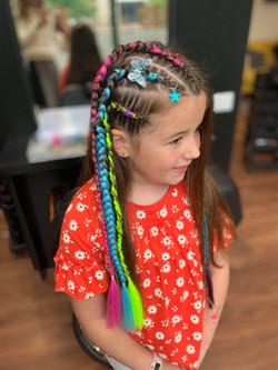 3 side braids