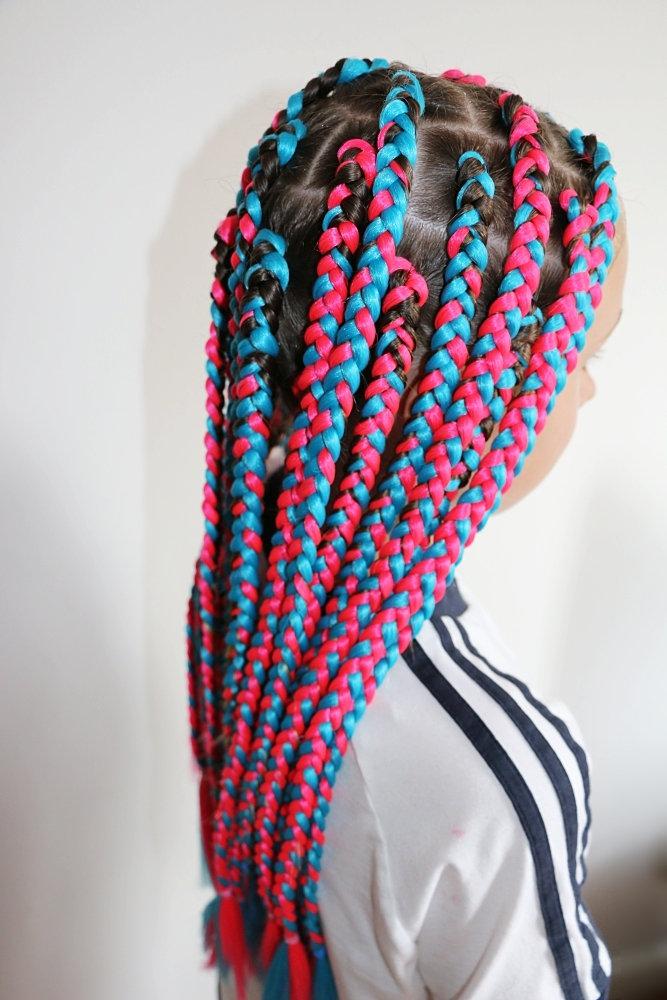 Kids medium sized box braids