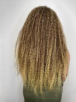 Curly crochet braids
