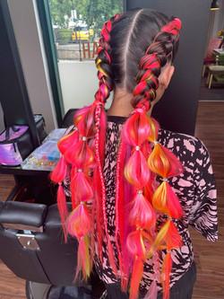 Festival boxer braids