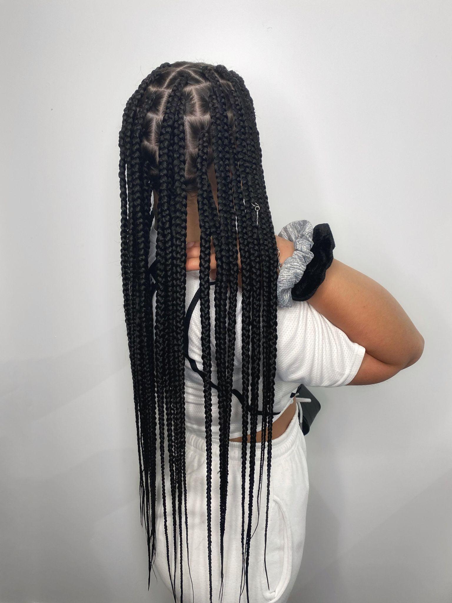 Large sized box braids