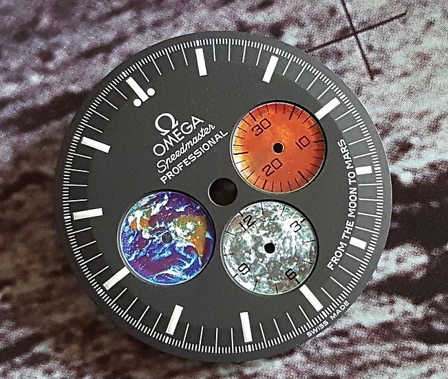 Omega Speedmaster Moon to Mars Dial