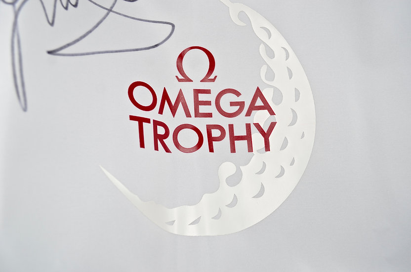 US Open Omega Trophy Golf Flag Signed by Michelle Wie