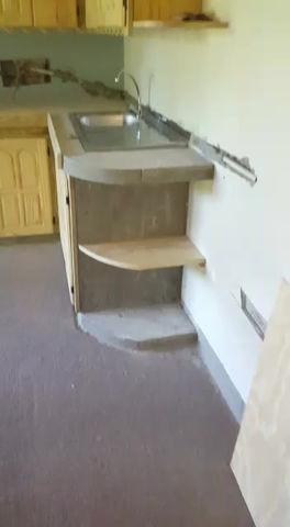 Kitchenette in apartment underway