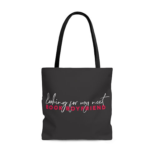 Looking for My Next Book Boyfriend Library Tote - Grey
