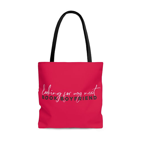 Looking for My Next Book Boyfriend Library Tote - Hot Pink