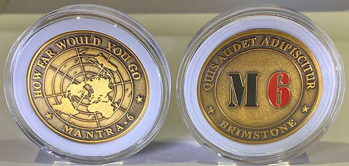 MANTRA-6 'BRIMSTONE' LIMITED EDITION NUMBERED COLLECTORS COIN