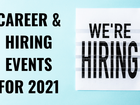 Career & Hiring Events for 2021