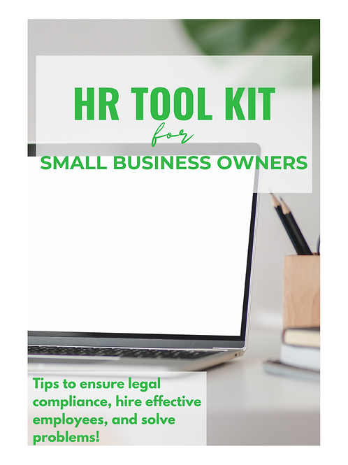 HR Tool Kit for Small Business Owners