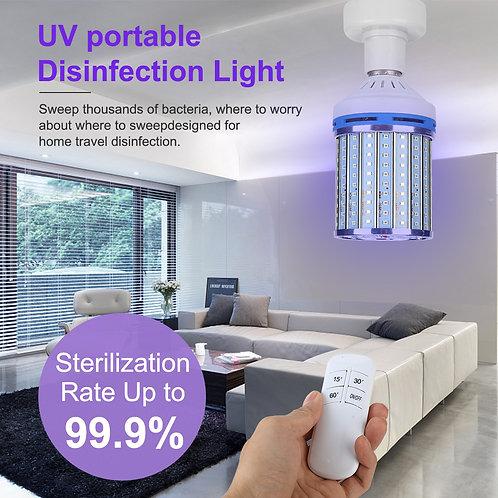 110 V UVC Light Bulb with Remote Control Timer.
