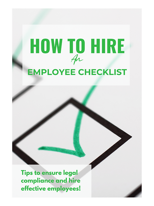 How to Hire An Employee Checklist