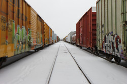 Snowy Hallyway of Freights - Denver