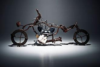 Sculpture à vélo