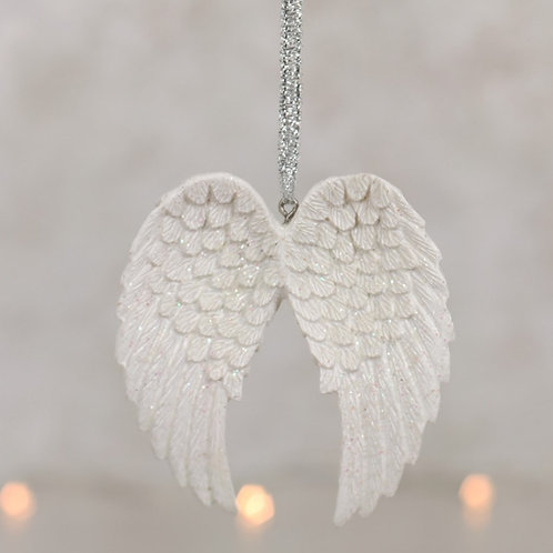 Glitter Angel Wing Hanging Decoration
