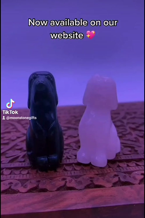 Crystal Dog Carvings
