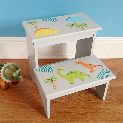 Dinosaur Wooden Step Stool