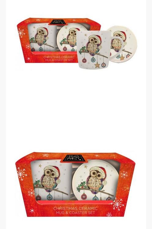 Owl Mug & Coaster Set