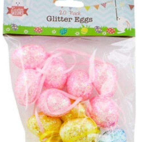 Glitter Easter Eggs- 20pk