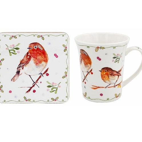Robin Mug & Coaster Gift Set