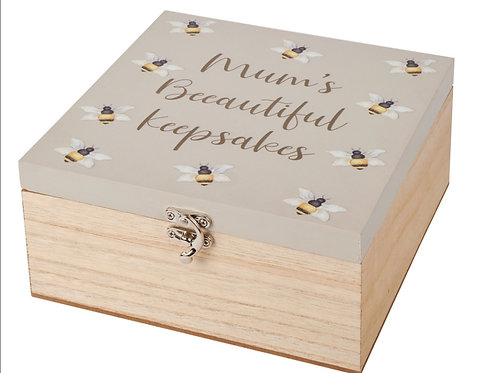 Mums Bee-utiful Keepsake Box