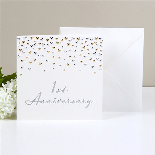 1st Anniversary Greetings Card