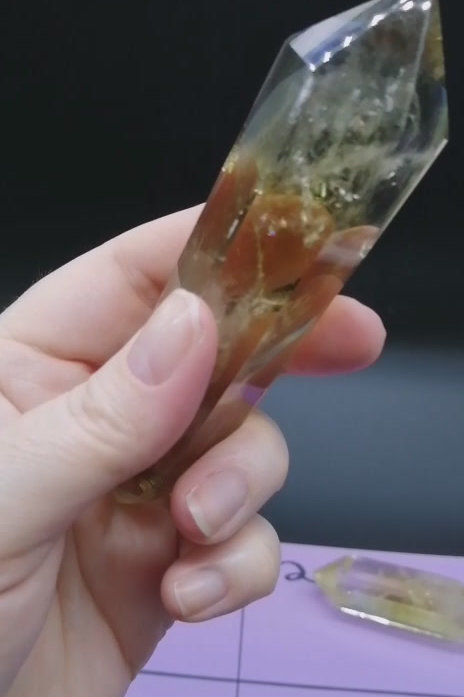 Citrine Double Terminated Points