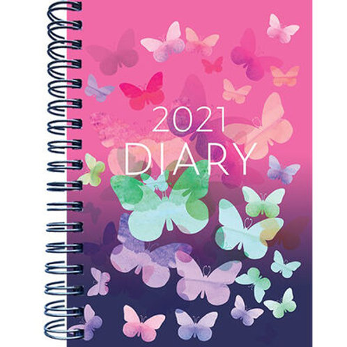 A5 Butterflies 2021 Week To View Diary
