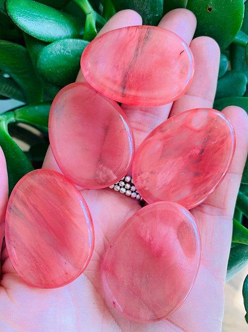 Cherry Quartz worry/thumb stones
