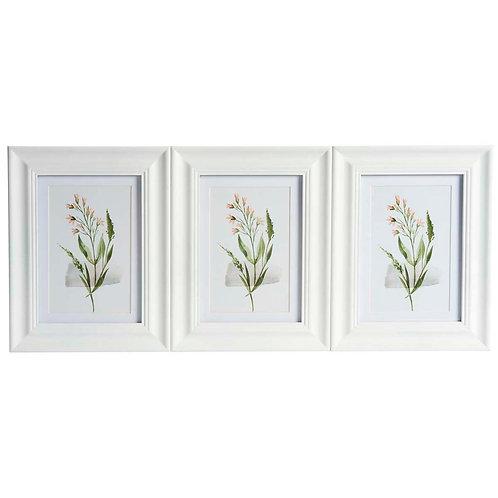 Triple white photo frame