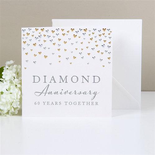 Diamond Anniversary Greetings Card