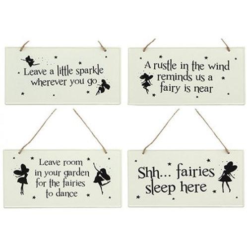 Fairy hanging signs - Metal