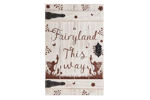 Fairy Door Plaque/Sign (Large)