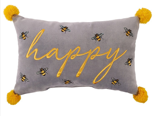 Happy - Bee cushion