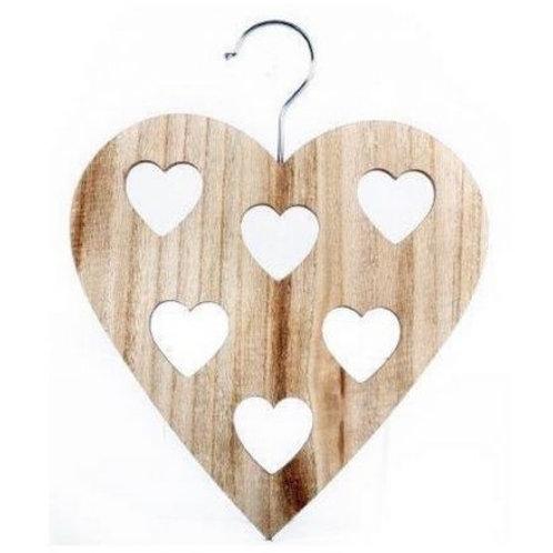 Wooden Heart Shaped Scarf Hanger