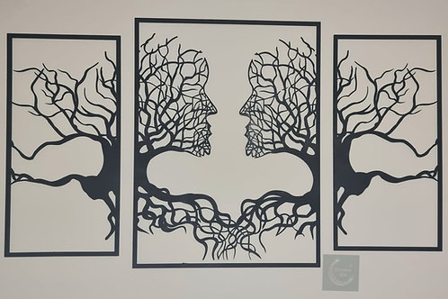 Wooden Wall Panel Artwork (Male & Male)