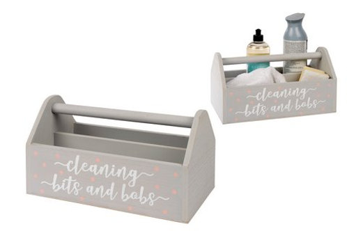 Cleaning Bits & Bobs Crate - Grey