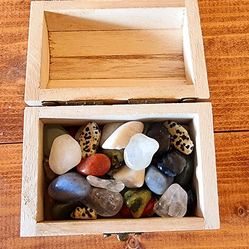 Chest of small tumblestones
