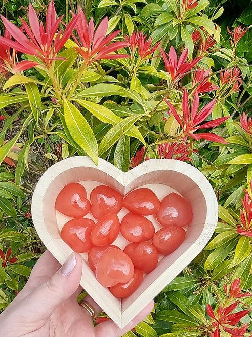Cherry Quartz Heart